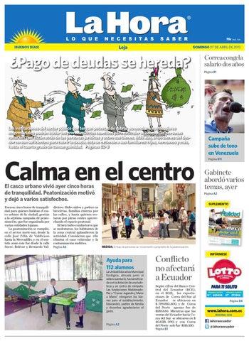 Diario La Hora Loja 07 de Abril 2013 by Diario La Hora Ecuador - issuu d1a64734323