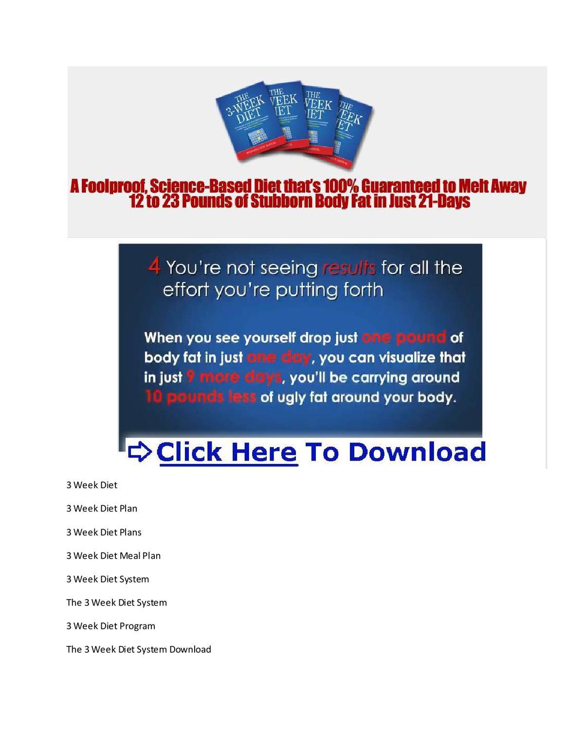 3 week diet system pdf free