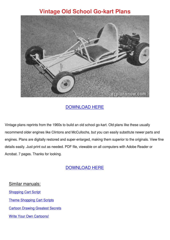 Vintage Old School Go Kart Plans by doris l. - issuu