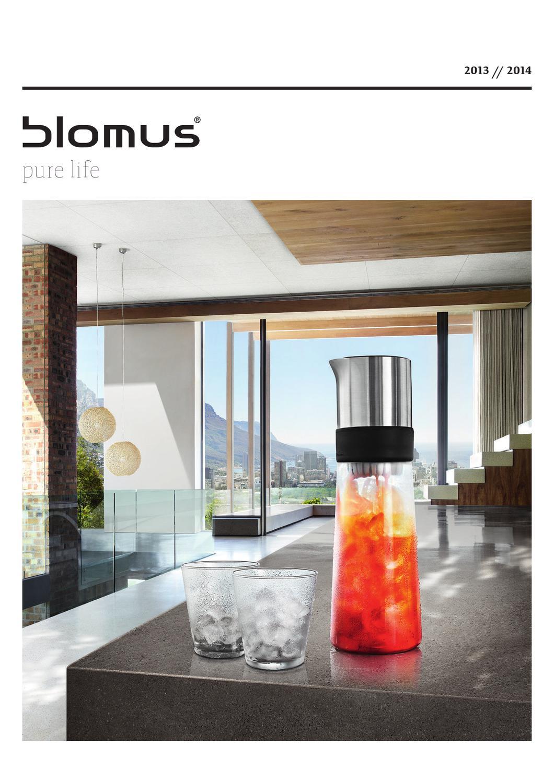 Edelstahl matt 19,5 cm Blomus Flaschenkühler LOUNGE mit 4 Kühlakkus Höhe ca