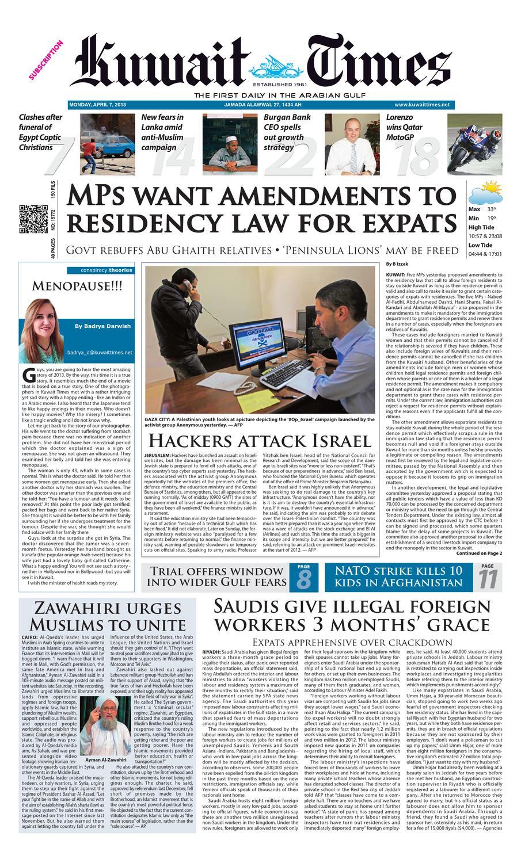 8 Apr 2013 By Kuwait Times Issuu