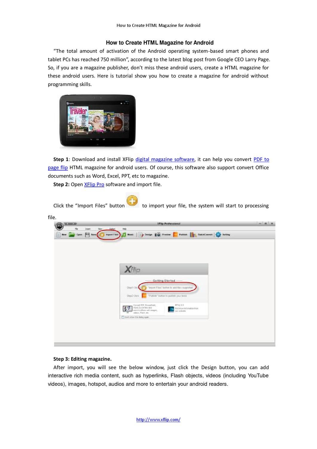 How to Create HTML Magazine for Android by luna leng - issuu