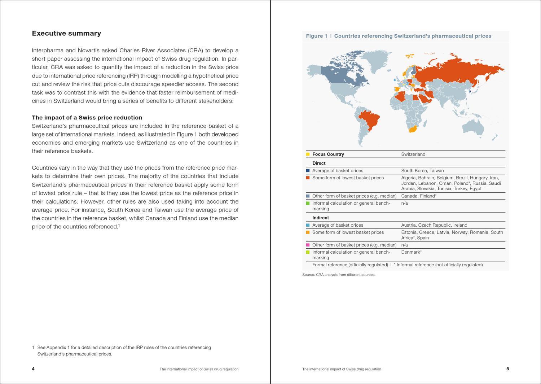 The International impact of the Swiss drug regulation by Interpharma
