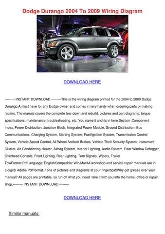 Dodge Durango 2004 To 2009 Wiring Diagram by Nada Tallada ...