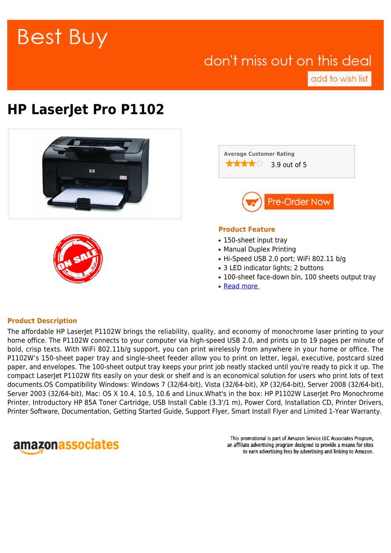 Best buy HP LaserJet Pro P1102 by proshine share