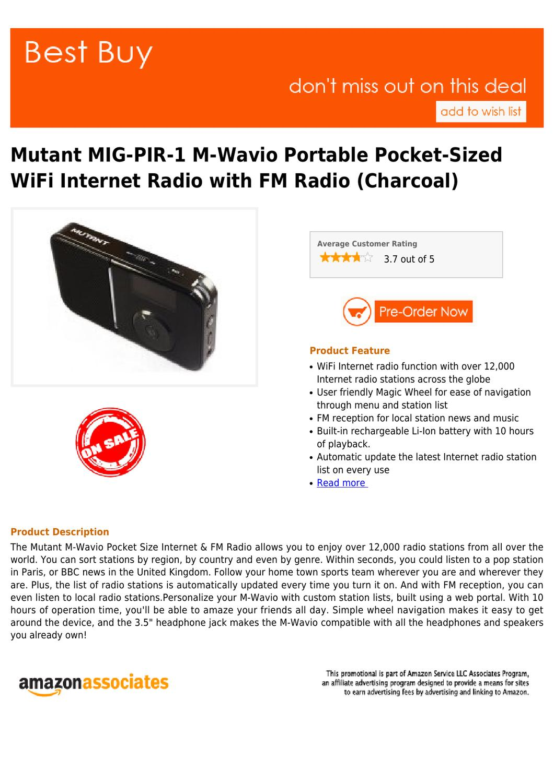 Best buy Mutant MIG-PIR-1 M-Wavio Portable Pocket-Sized WiFi