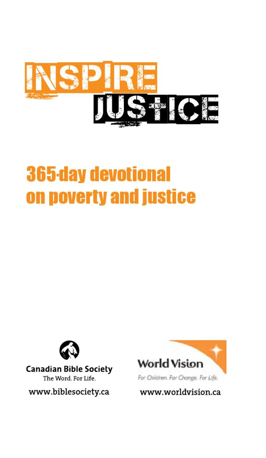 Inspire Justice: 365-day devotional on poverty and justice