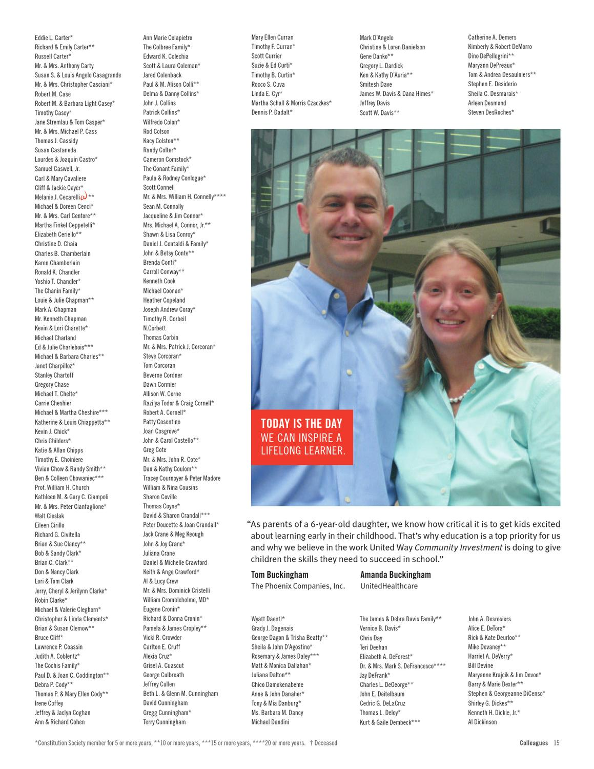 2011/2012 Leadership Roster by United Way of Central and