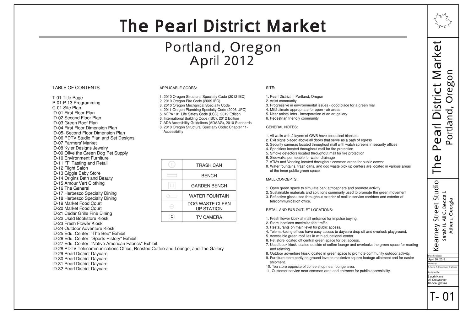 S Harris The Pearl District Market Construction Drawings