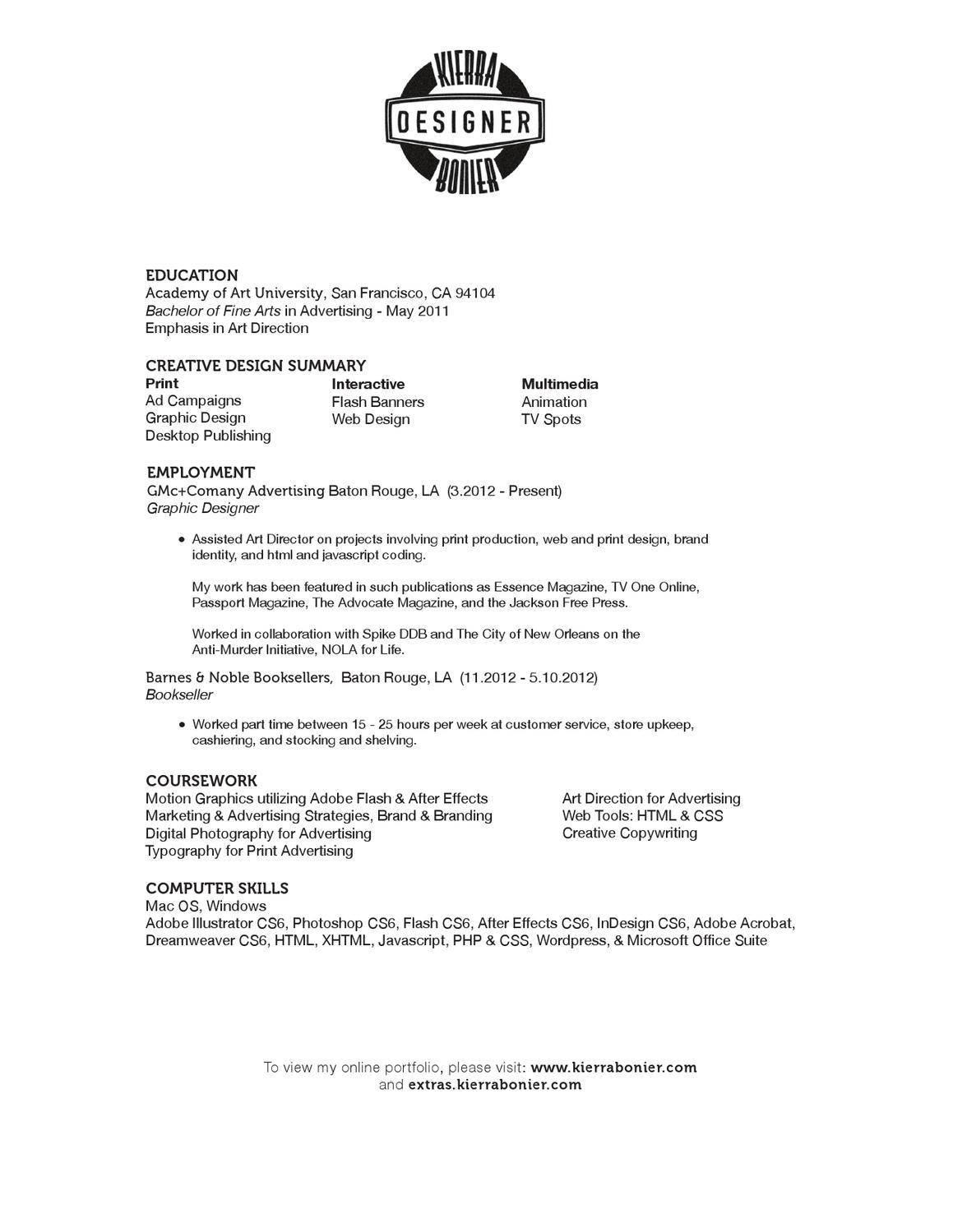 Bonier Resume by Kierra B - issuu