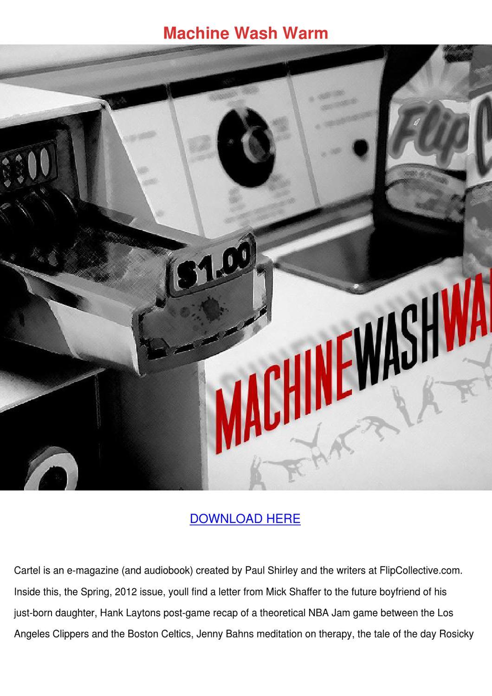 machine wash warm