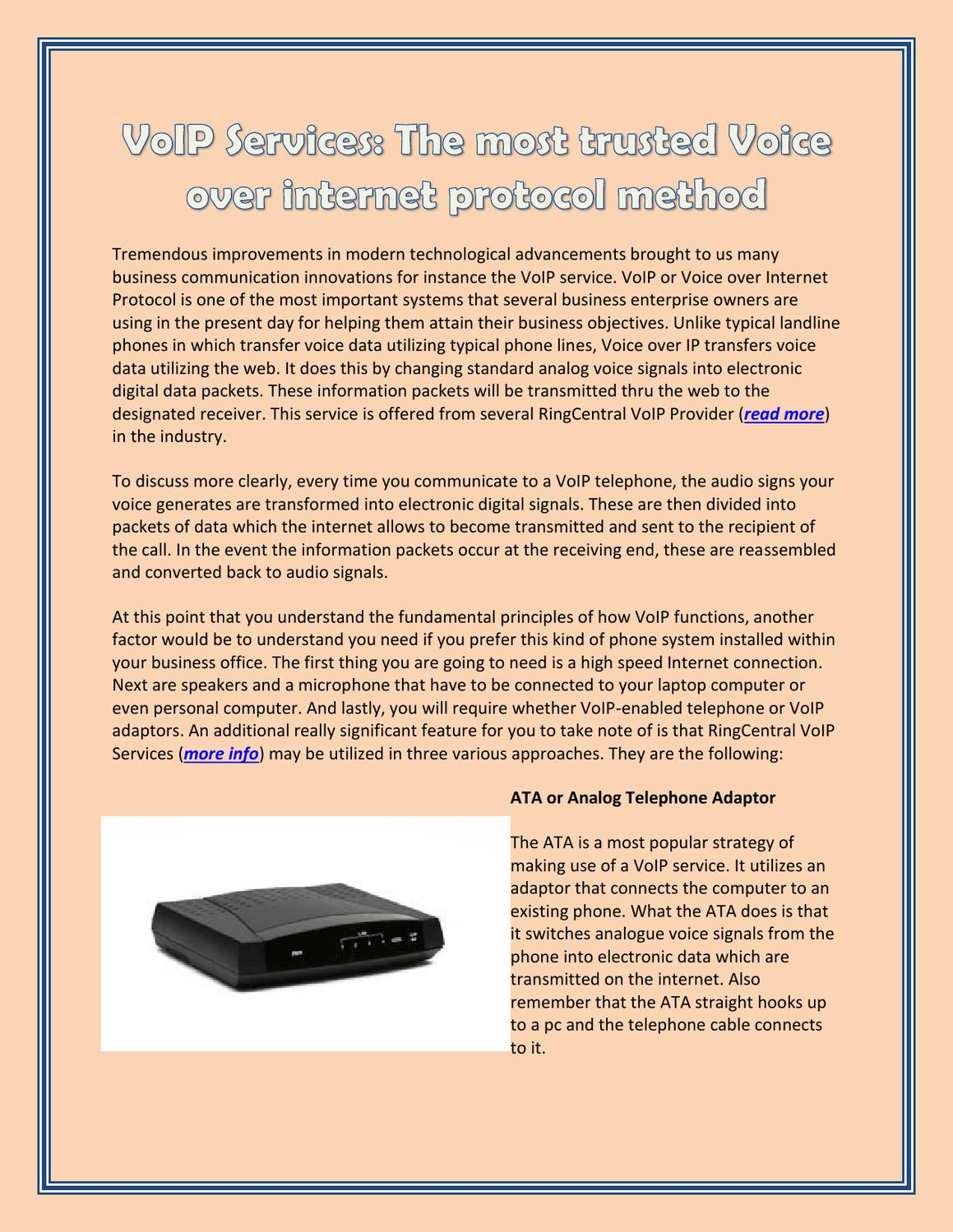VoIP Services - The most trusted Voice over internet