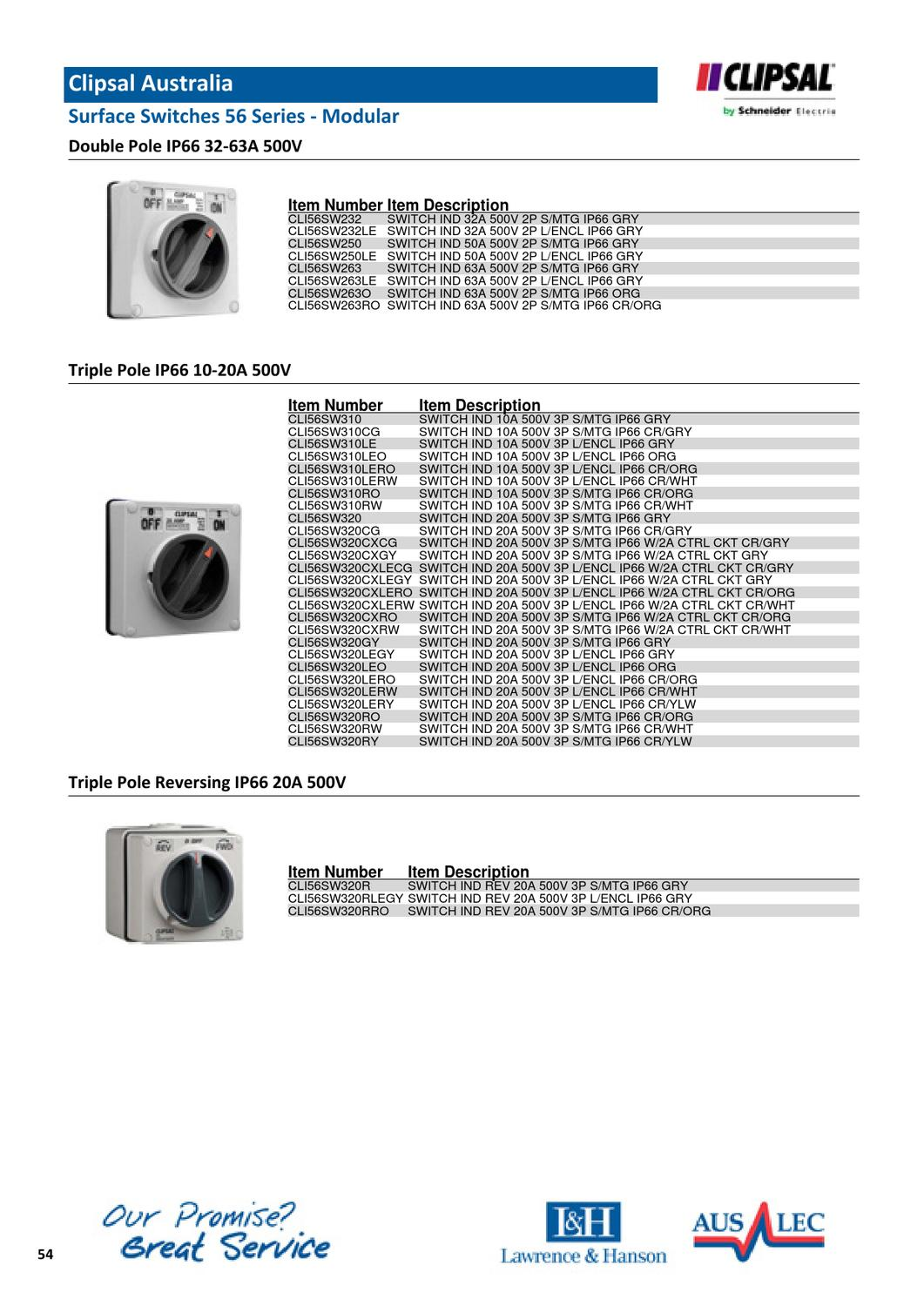 L&H Industrial Switch Gear Catalogue by Chris Bright - issuu