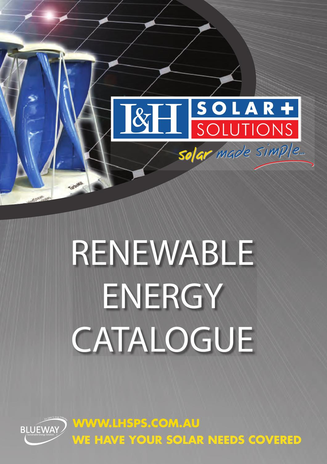 Lh Solar Catalogue By Chris Bright Issuu Surface Mounted Box And Wiring 1407 Chase
