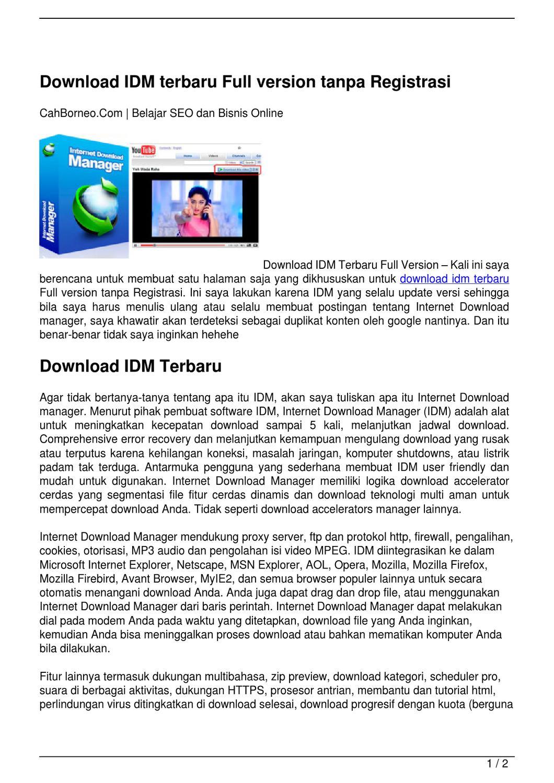 install idm full version tanpa registrasi
