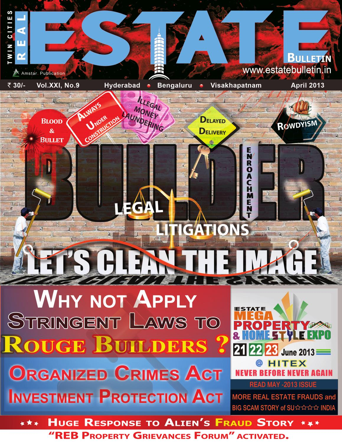 April 2013 Estate Bulletin by Real Estate
