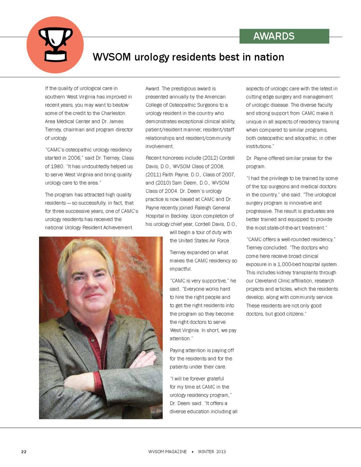 WVSOM Winter Magazine - 2013 by West Virginia School of Osteopathic
