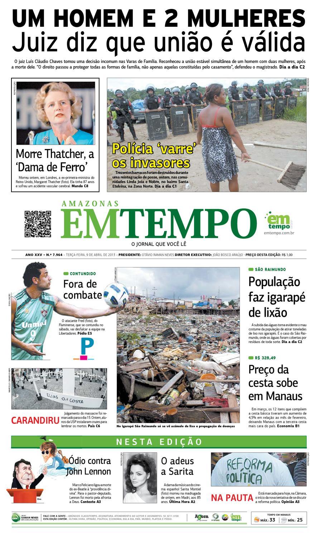 00de65f6aa EM TEMPO - 9 de abril de 2013 by Amazonas Em Tempo - issuu