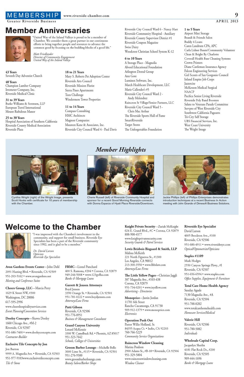 Greater Riverside Business - April 2013 Issue by Greater Riverside