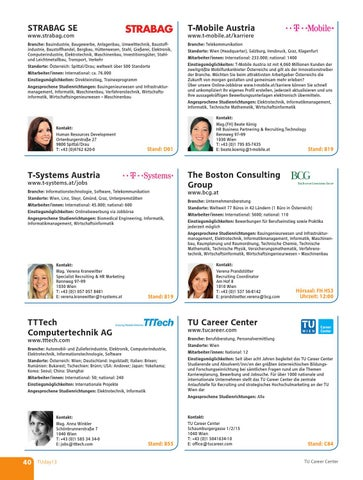 Tuday13 Messe Guide By Tu Career Center Gmbh Issuu