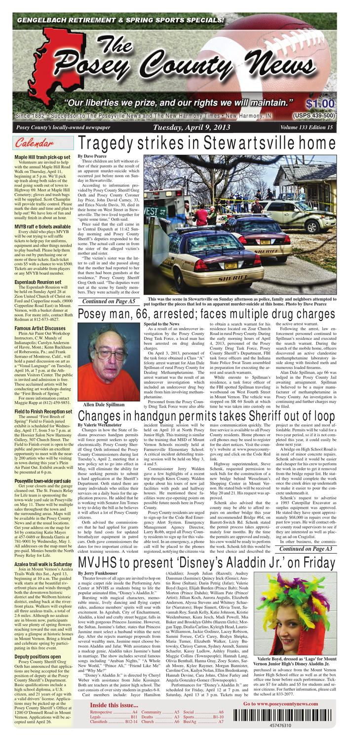 April 9 2013 The Posey County News By Issuu From Scratch Off Road Trailer Akaa Reason To Buy A Welder Page 2