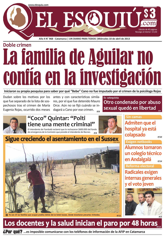 El Esquiu Com Mi Rcoles 10 De Abril De 2013 By Editorial El  # Muebles Yoma Antofagasta