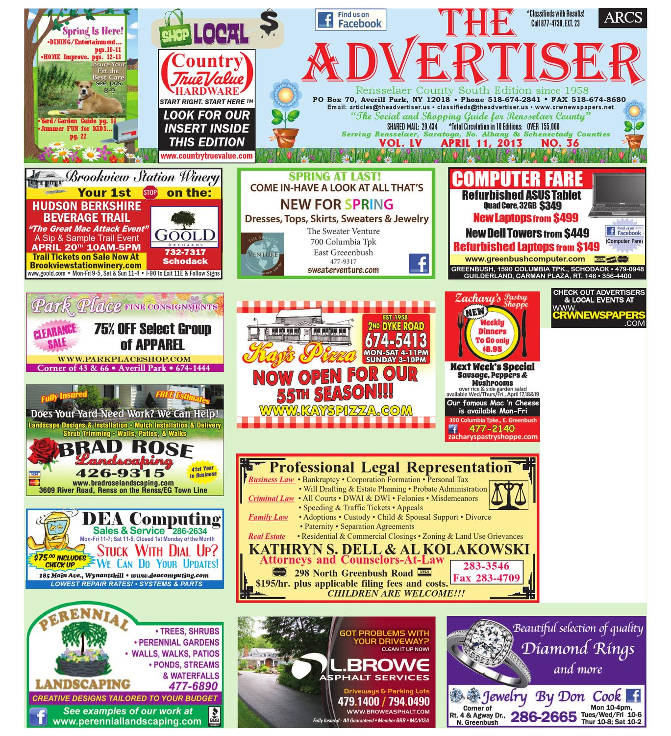 f4cf5e84ed04 Advertiser South 041113 by Capital Region Weekly Newspapers - issuu