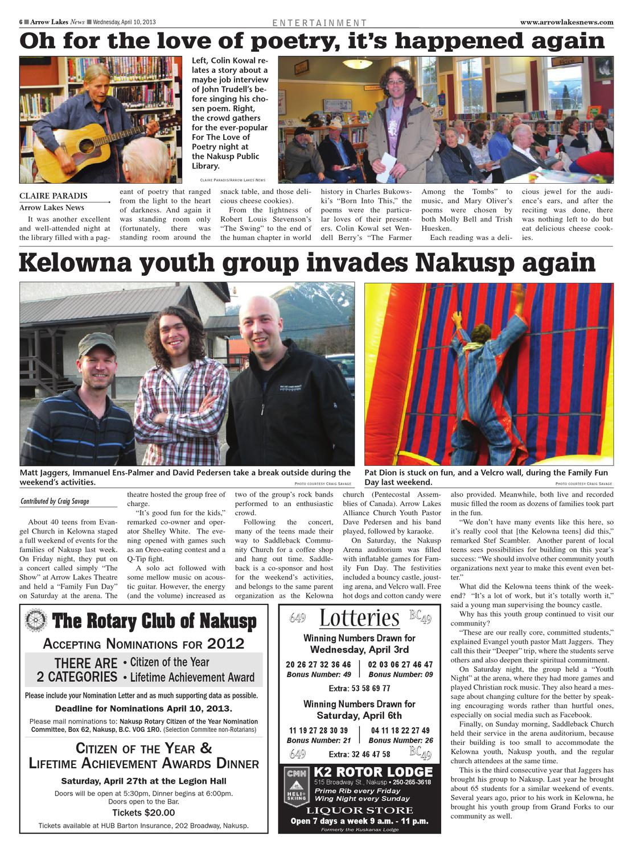 Arrow Lakes News, April 10, 2013 by Black Press - Issuu