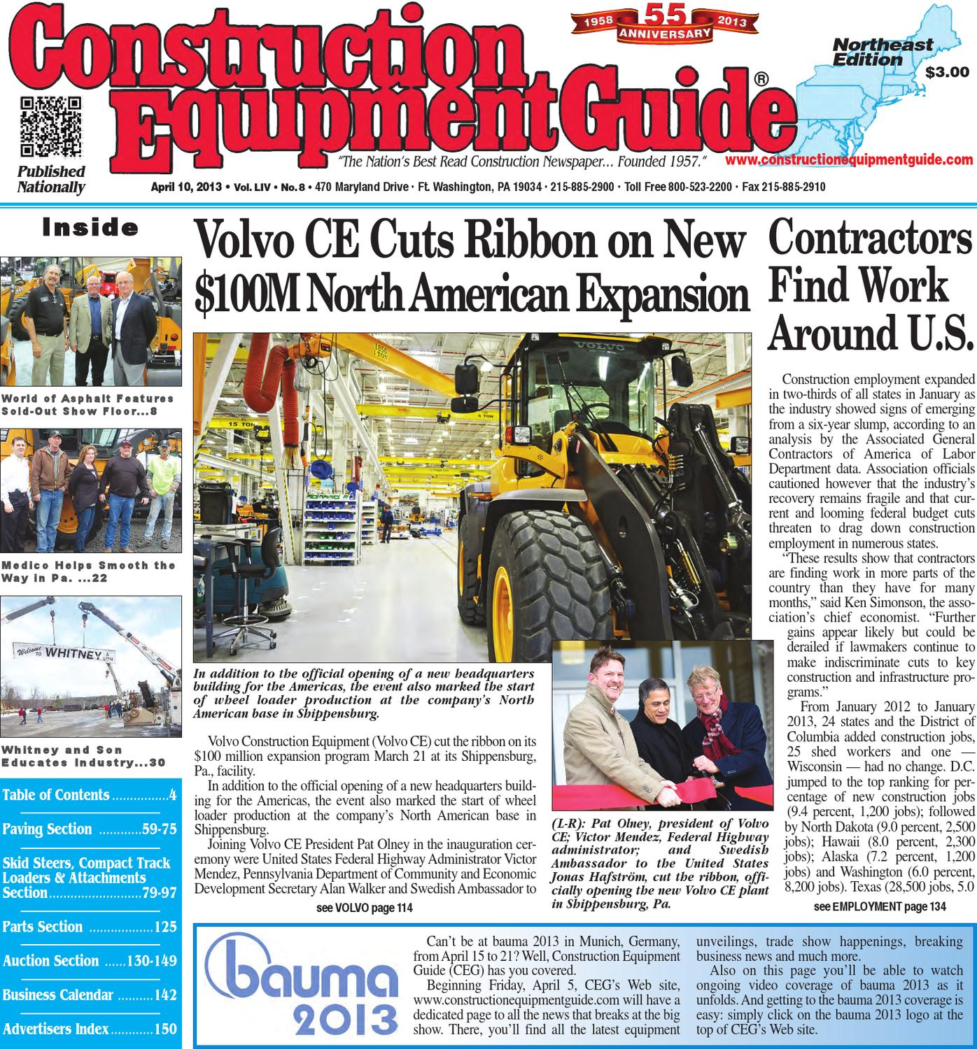 Northeast #8,2013 by Construction Equipment Guide - issuu on