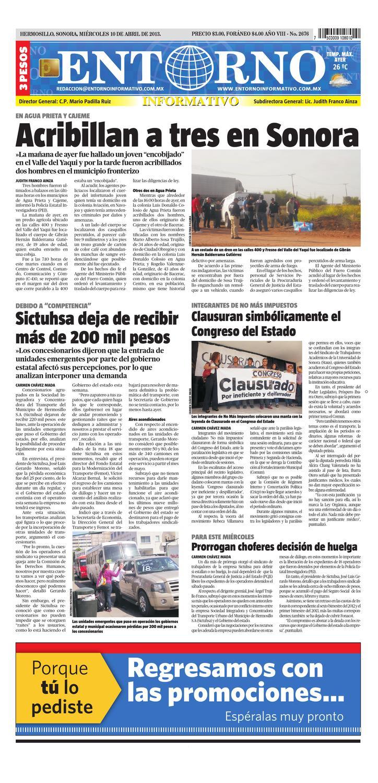 10 de abril del 2013 by Entorno Informativo hermosillo - issuu