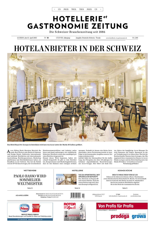 HetG Zeitung 10/2013 By Hotellerie_Gastronomie_Verlag   Issuu