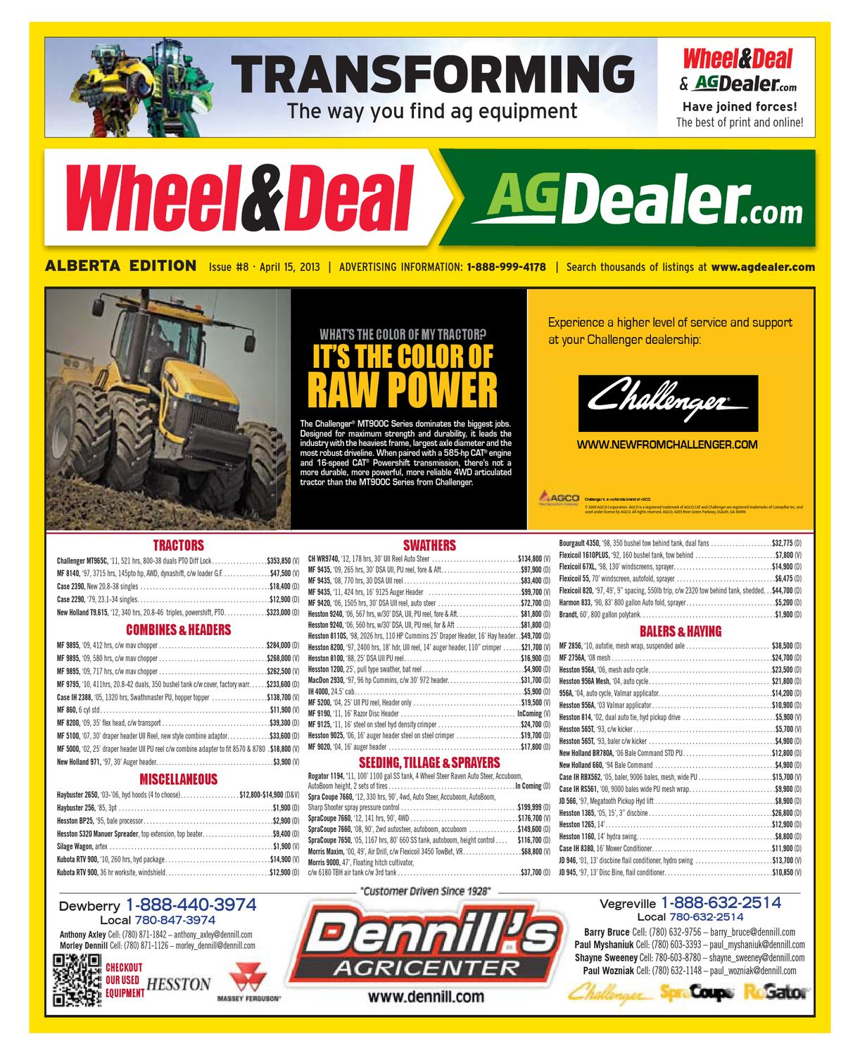 Wheel & Deal Alberta, April 15, 2013