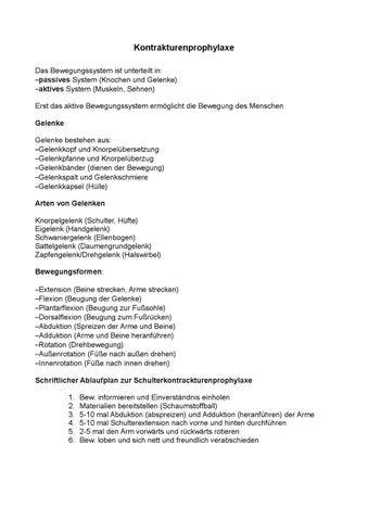 LF 4 Kontrakturenprophylaxe by DarkJogi - issuu