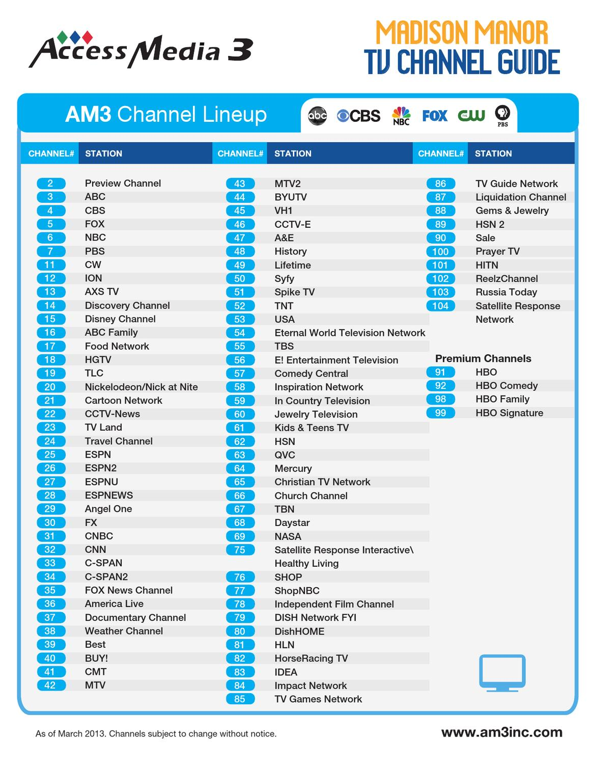 AM3 Channel Guide by AMBER Alwin - Issuu