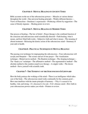The power of your subconscious mind joseph murphy by subina sharma chapter 4 mental healings in ancient times bible accounts on the use of the subconscious powers miracles at various shrines throughout the worldone malvernweather Choice Image