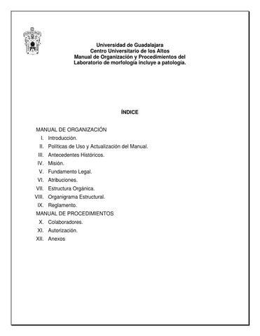 Manual De Procedimientos De Morfologia By Jose Antonio