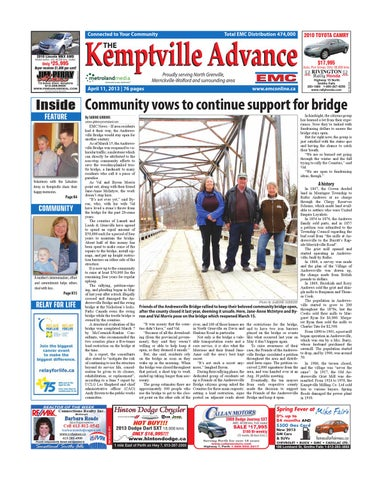 Kemptville041113 By Susan K Bailey Marketing Design Issuu