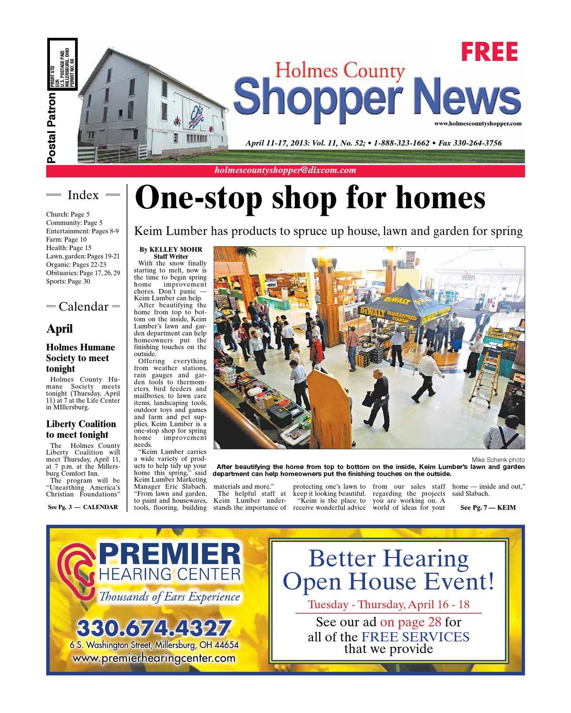 fcb69972bde Holmes County Shopper, April 11, 2013 by GateHouse Media NEO - issuu