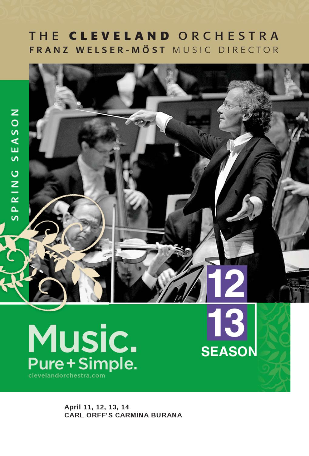 Nissan Of Streetsboro >> The Cleveland Orchestra April 11-14 Concerts by Live