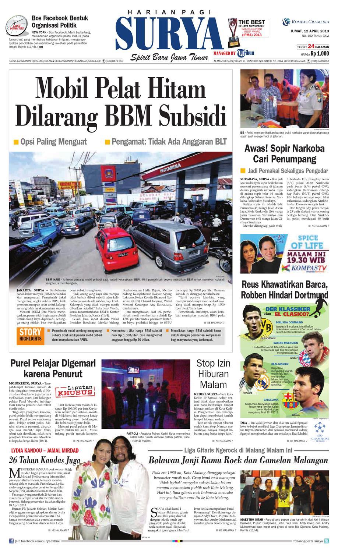 E Paper Surya Edisi 12 April 2013 By Harian Issuu Produk Ukm Bumn Tempat Tisu Handmade Trenggalek