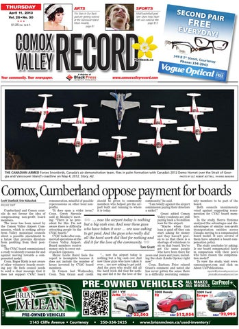 Comox Valley Record April 11 2013 By Black Press Issuu