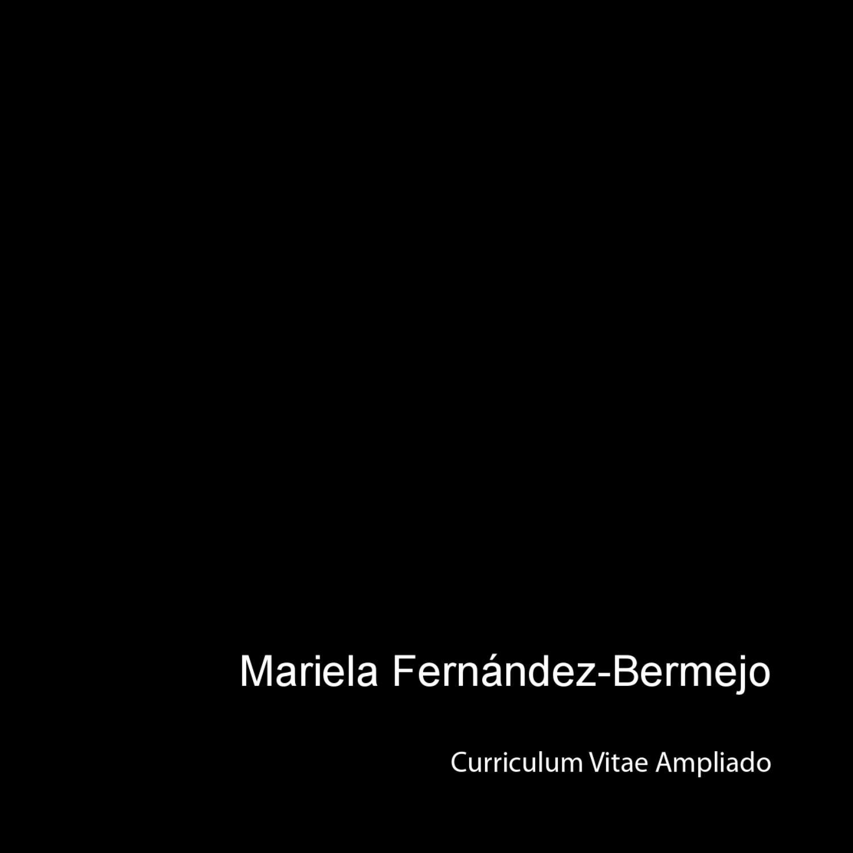 Curriculum Gráfico de Mariela Fernández-Bermejo by Mariela ...