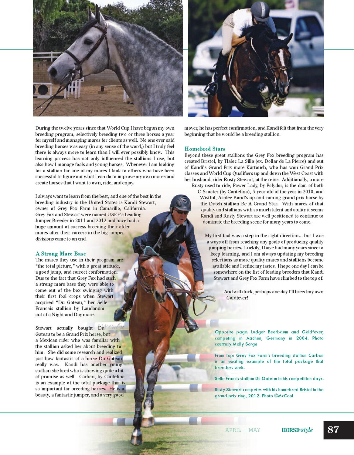 Horse & Style Magazine April/May 2013 by Horse & Style ...
