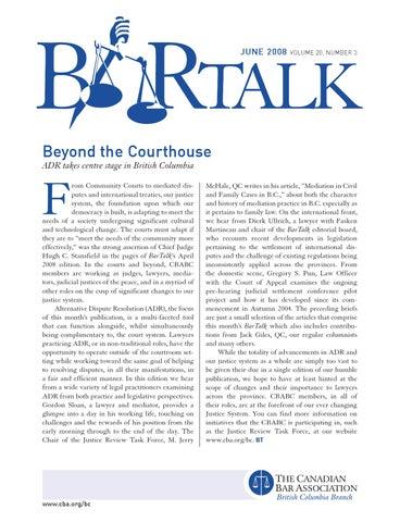BarTalk | June 2008 by The Canadian Bar Association, BC Branch - issuu