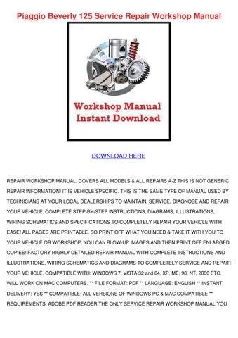 vespa gt125 gt200 service repair manual download