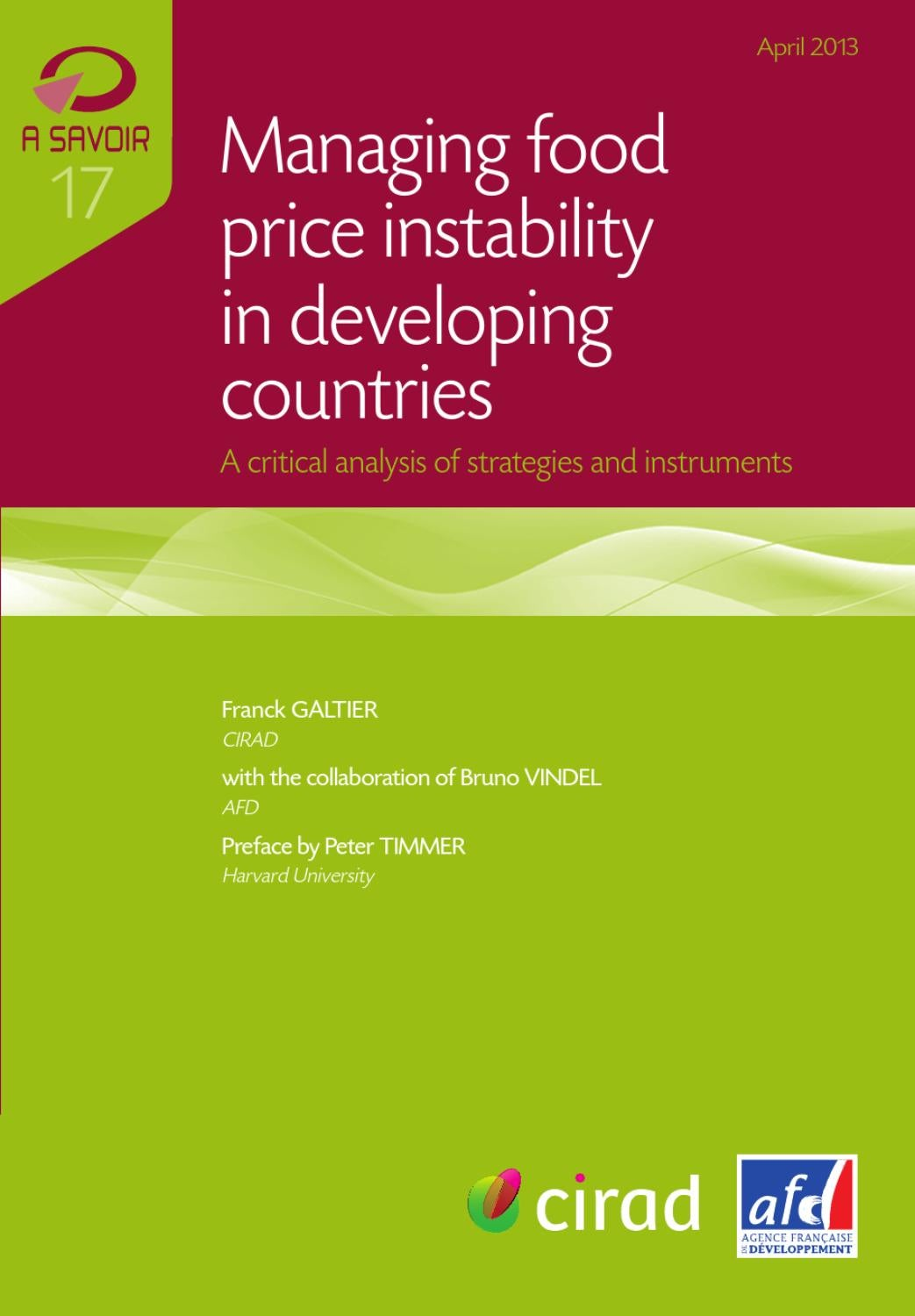 Managing Food Price Instability In Developing Countries By Agence Hoc Premium Maroon Full Set Suit Franaise De Dveloppement Issuu