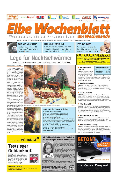 Wochenende Kw15 2013 By Elbe Wochenblatt Verlagsgesellschaft