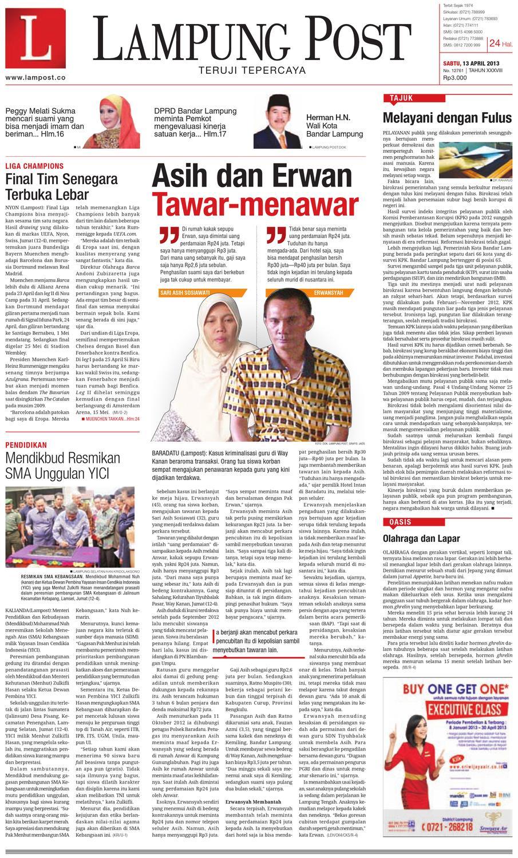 Lampungpost Edisi 13 April 2013 By Lampung Post Issuu Produk Ukm Bumn Gaun Putih Maya Raisa Kebaya