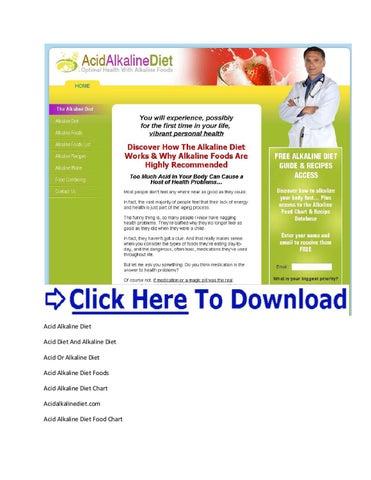 The Definitive Acid Alkaline Food Chart Acid Alkaline Diet Food