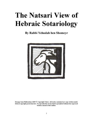 The Natsari View of Hebraic Sotariology by Gregory Feguer - issuu